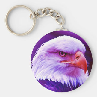 Bald American Eagle Key Ring