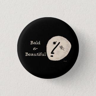 Bald & Beautiful 3 Cm Round Badge