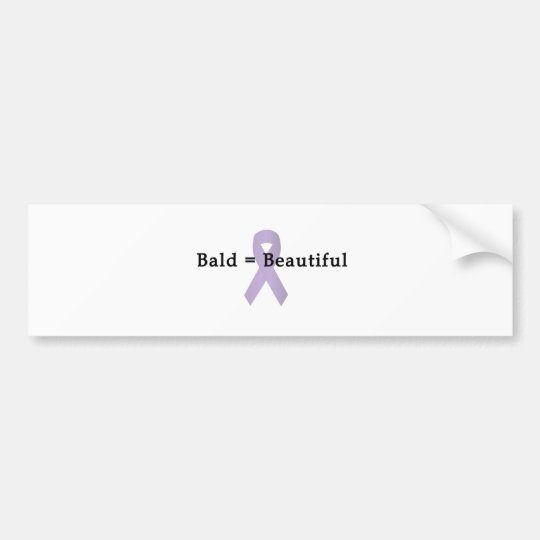 Bald Beautiful Bumper Sticker