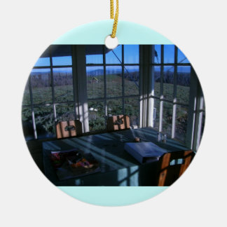 Bald Butte Fire Lookout Breakfast Nook Christmas Ornament