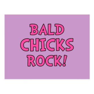 Bald Chicks Rock - Cancer Awareness Postcard
