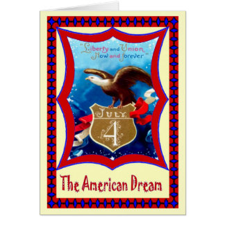 Bald Eagle 4th July Card