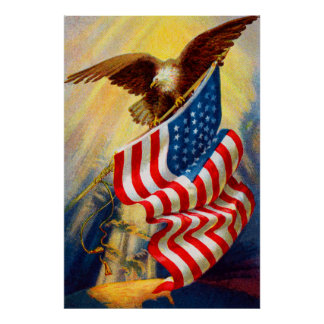 Bald Eagle 4th Of July poster 2