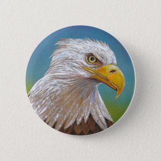 Bald Eagle 6 Cm Round Badge