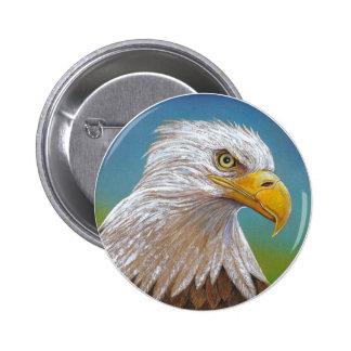 Bald Eagle 6 Cm Round Badge