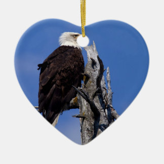 Bald Eagle 9219 Ceramic Heart Decoration