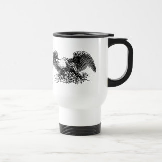 Bald Eagle Above Arrows and an Olive Branch Mugs