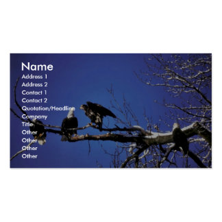 Bald Eagle Adults and Fledgling Business Cards