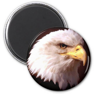 Bald Eagle American Eagle 6 Cm Round Magnet