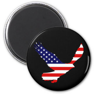 Bald Eagle American Flag 6 Cm Round Magnet