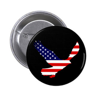 Bald Eagle American Flag 6 Cm Round Badge