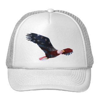 Bald Eagle American Flag Cap