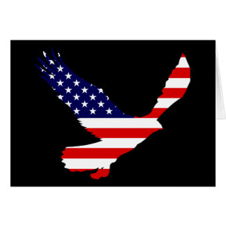 Bald Eagle American Flag Card
