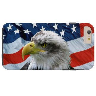 Bald Eagle American Flag Tough iPhone 6 Plus Case