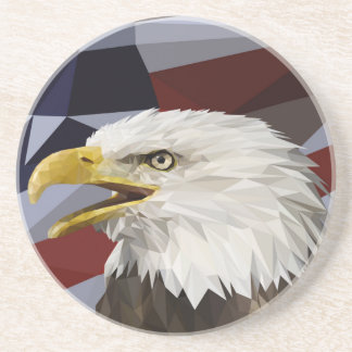 Bald Eagle American Flag Coaster