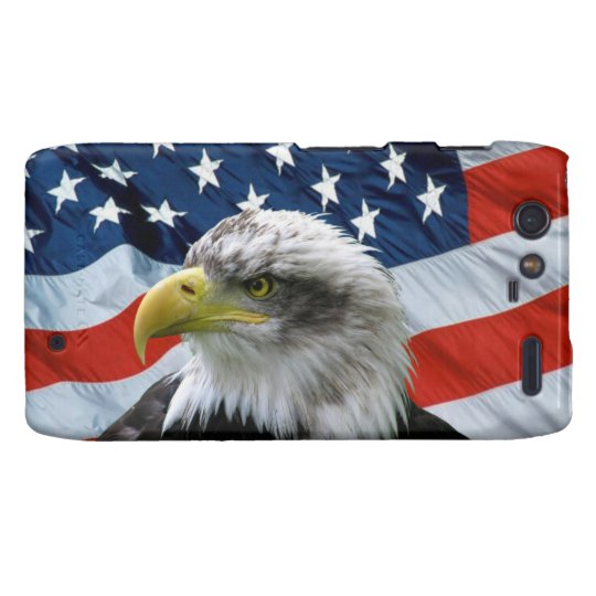 Bald Eagle American Flag Droid RAZR Case