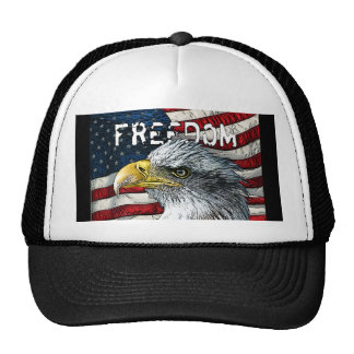Bald Eagle American Flag Freedom Hat