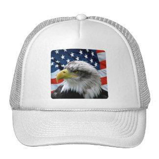 Bald Eagle American Flag Hats