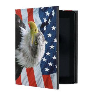 Bald Eagle American Flag iPad Folio Cover