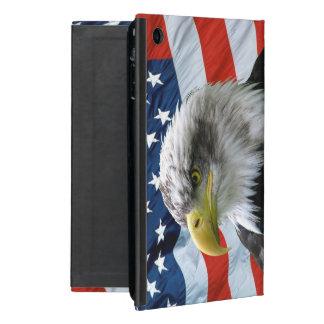 Bald Eagle American Flag Cases For iPad Mini