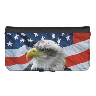 Bald Eagle American Flag iPhone 5 Wallet Case
