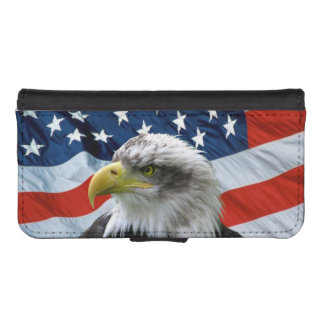Bald Eagle American Flag iPhone 5 Wallet Case