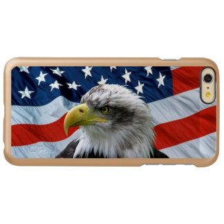 Bald Eagle American Flag iPhone 6 Plus Case