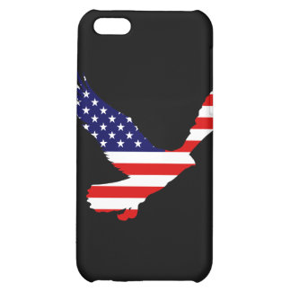 Bald Eagle American Flag Cover For iPhone 5C