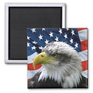 Bald-Eagle-American-Flag Magnets
