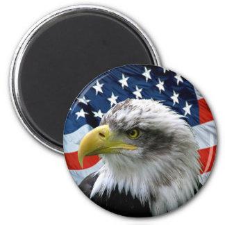 Bald-Eagle-American-Flag Refrigerator Magnet