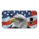 Bald Eagle American Flag Samsung Galaxy S6 Cases