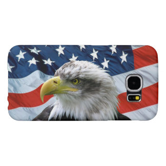 Bald Eagle American Flag Samsung Galaxy S6 Cases