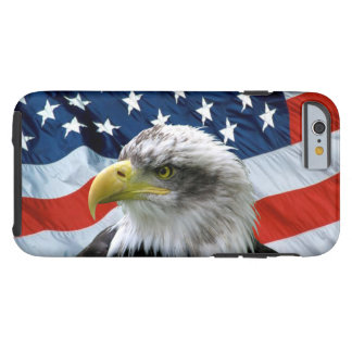 Bald Eagle American Flag Tough iPhone 6 Case