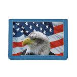Bald Eagle American Flag Wallet