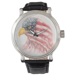 Bald Eagle American Flag Watch