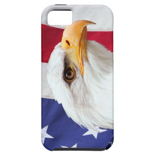 Bald Eagle and American Flag iPhone 5 Case