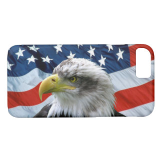 Bald Eagle and American Flag iPhone 8/7 Case