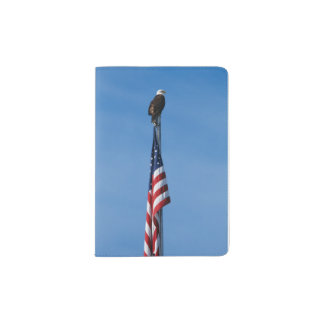 Bald Eagle and American Flag - passport case