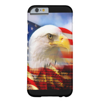 Bald Eagle and The American Flag Barely There iPhone 6 Case