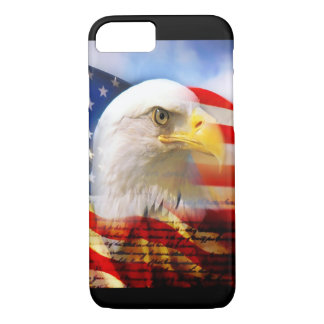 Bald Eagle and The American Flag iPhone 7 Case