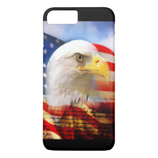 Bald Eagle and The American Flag iPhone 7 Plus Case