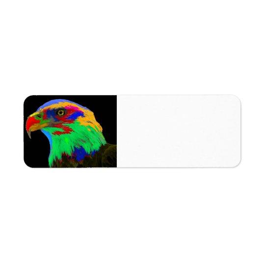Bald Eagle (brushed) Return Address Label
