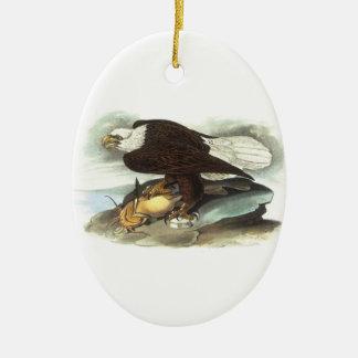 Bald Eagle by Audubon Christmas Ornament