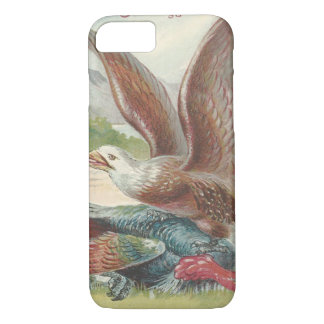 Bald Eagle Catching Thanksgiving Turkey iPhone 7 Case