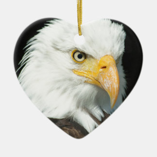 Bald Eagle Ceramic Heart Decoration