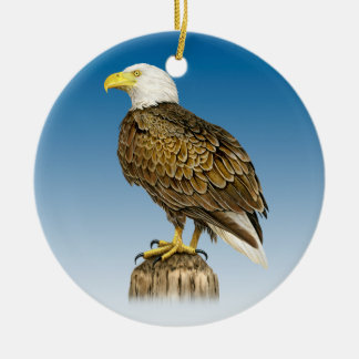 Bald Eagle Ceramic Ornament