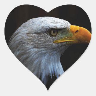 Bald Eagle copy.jpg Heart Sticker