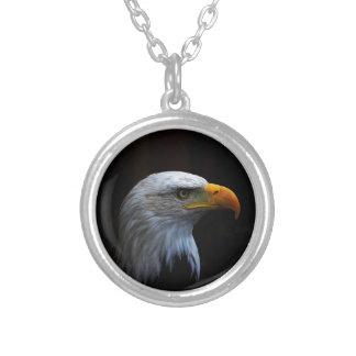 Bald Eagle copy.jpg Round Pendant Necklace
