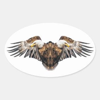 Bald Eagle Creature Oval Sticker