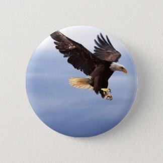Bald Eagle Dive 6 Cm Round Badge